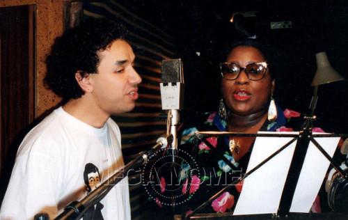 Quand Carole Fredericks et Mega Mome étaient en studio-Souvenir
