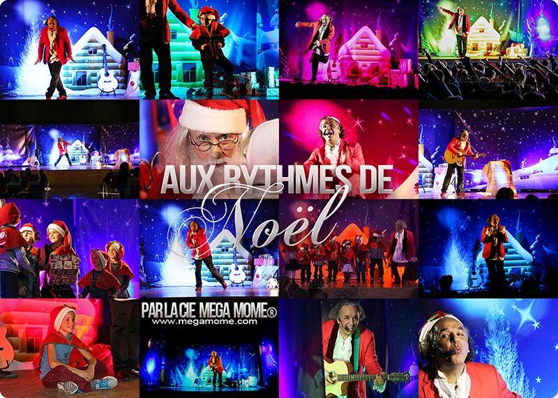"""Présentation du spectacle de Noël """"Aux rythmes de Noël"""" par la Compagnie Mega Mome"""